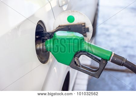 Petrol Pump Filling Closeup