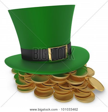 Hat And Coins St. Patrick`s Day