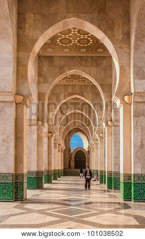 Arches At Mosque Hassan Ii Casablanca Morocco