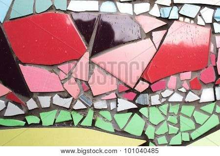 Detail ceramic glass mosaics