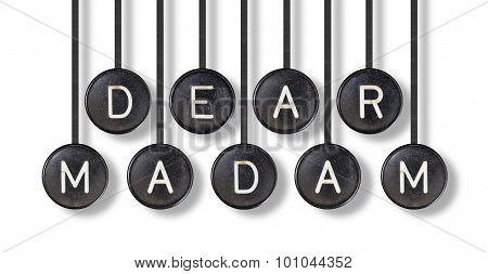 Typewriter Buttons, Isolated - Dear Madam