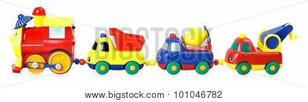 Colorful Children's Train With Wagons