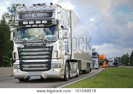 Scania Semi R620 R.U.Route On In Truck Convoy