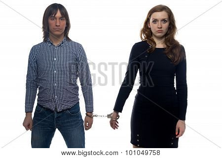 Man and unhappy woman