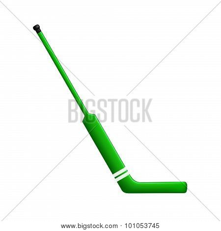 Hockey stick for goalie in green design