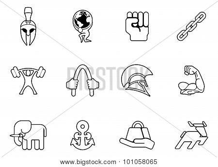 Strength Icon Set