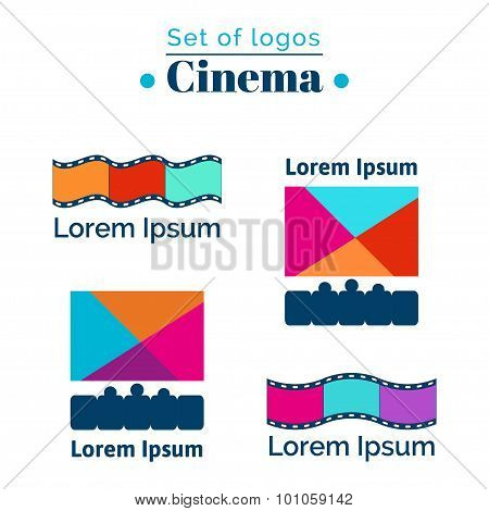 Logo for cinema, movie house.