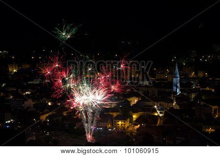 fireworks for the feast of July 14 in France