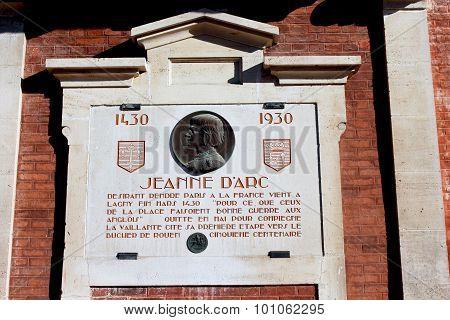 Joan of Arc Memorial Plaque