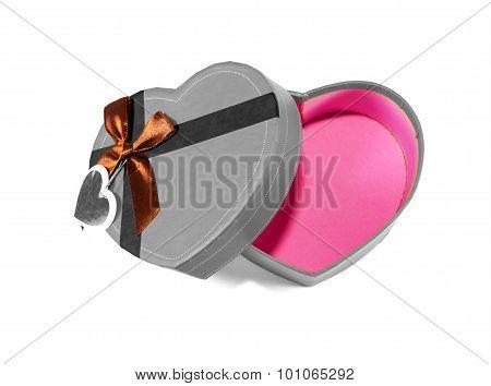 Gray Heart-shaped Box