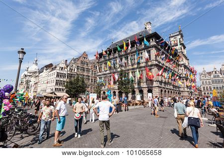 Historic Buildings In Antwerp, Belgium