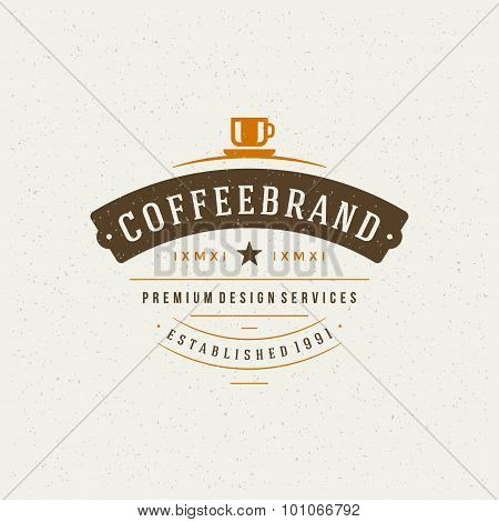 Coffee Shop Design Element in Vintage Style for Logotype