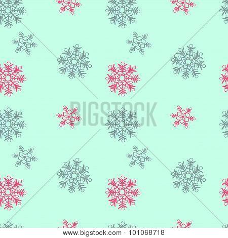 Snowflakes. Vector seamless illustration.