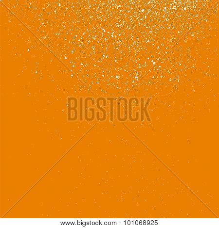 Grainy White Texture On A Orange  Background.
