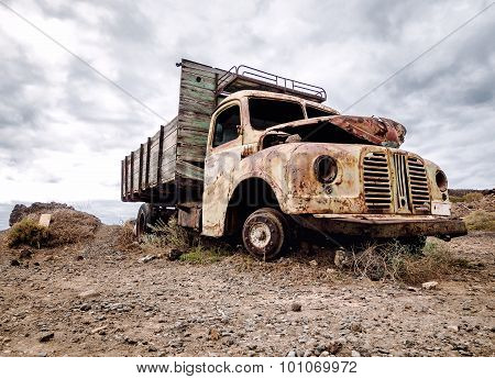 Old And Rusty Truck Outdoors
