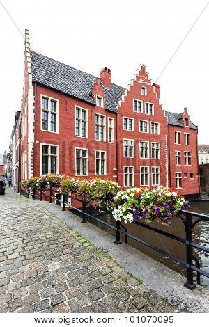 Red House In Ghent, Belgium