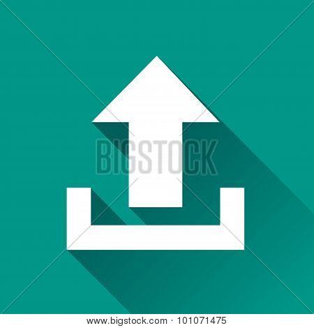Upload Flat Design Icon