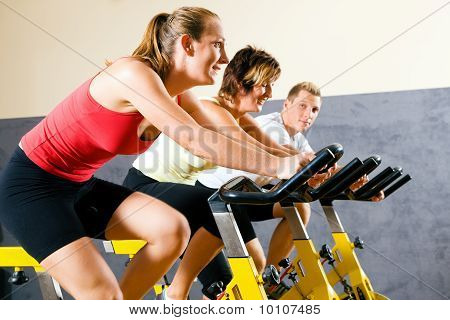 Bicycle in the gym