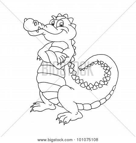 Cartoon alligator.