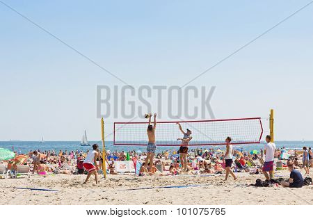 Municipal Beach In Gdynia, Baltic Sea, Poland