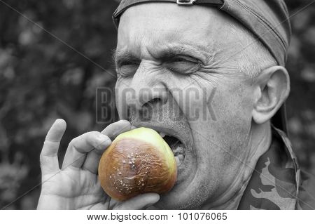 Man Eating Disquisting Food