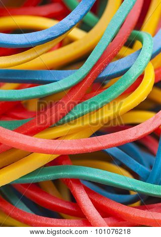 Multicolored Elastic Bands