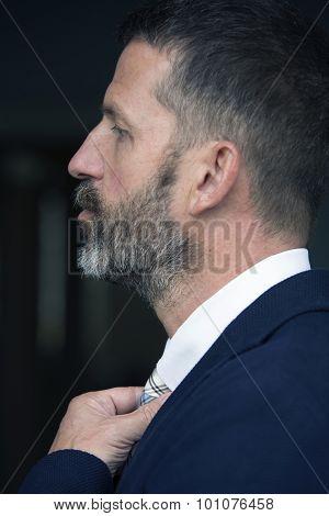 Side Profile Of A Businessman