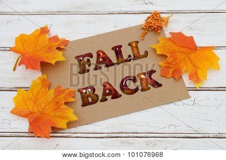 Fall Back Card