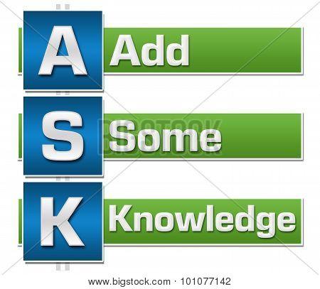 Ask Formula Green Blue Blocks