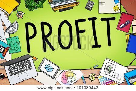Profit Earning Benefit Financial Revenue Concept