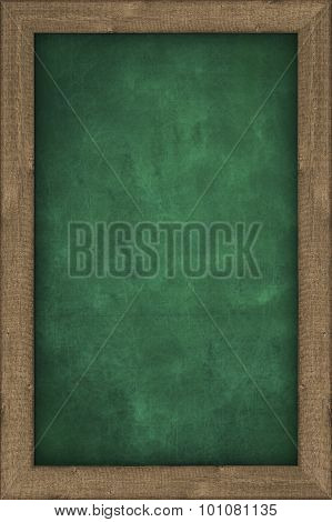 green chalkboard with wooden frame
