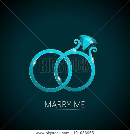 Wedding Rings. Marry Me Background