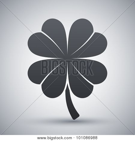 Four-leaf Clover Icon, Vector