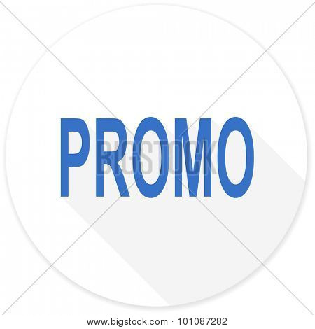 promo flat design modern icon with long shadow for web and mobile app