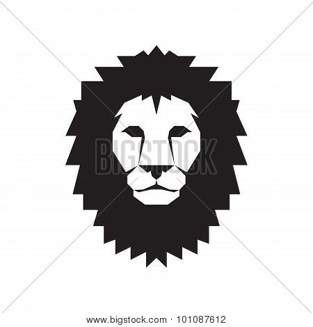 Lion head - vector sign concept illustration. Lion head logo. Wild lion head graphic illustration.