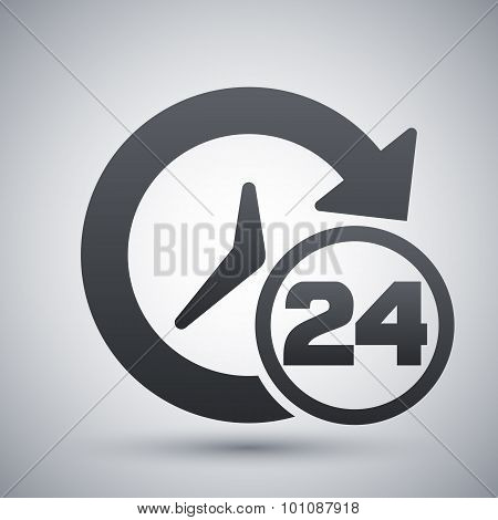 Open Hours Icon, Vector