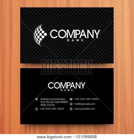 Horizontal business card or visiting card design for your company.