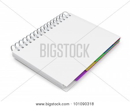 Template Diary With A White Cover