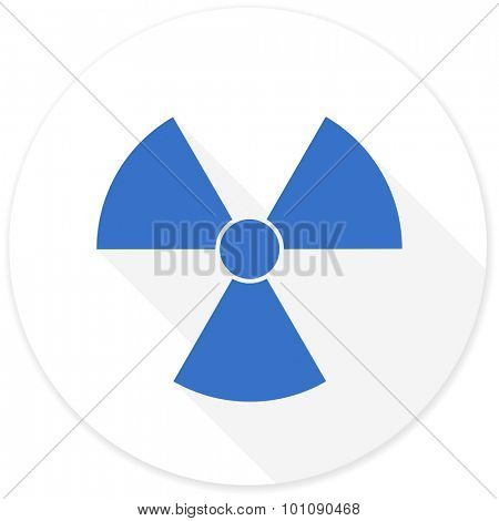radiation flat design modern icon with long shadow for web and mobile app