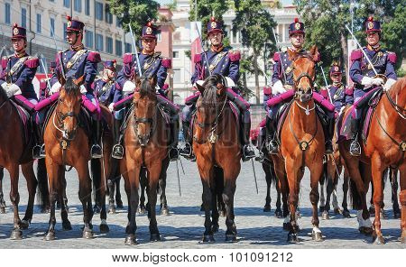 Department Straddling The Italian State Police