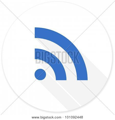 rss flat design modern icon with long shadow for web and mobile app