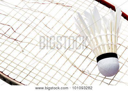Racket and Shuttlecock broken badminton