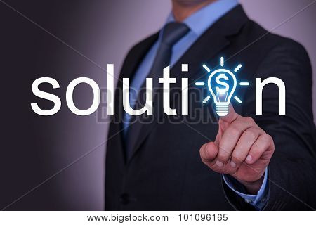 Solution Finance Idea on Touch Screen