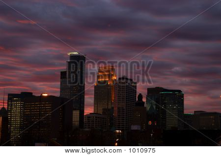 Minneapolis At Sunset