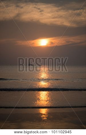 Sunset on the beach in Langkawi, Malaysia