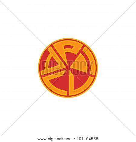Pizza Logo, Fast Food Banner, Isolated Flat Emblem Delivery Service Italian Pizzeria