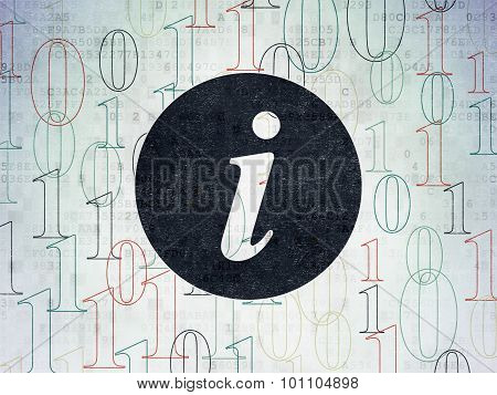 Web development concept: Information on Digital Paper background