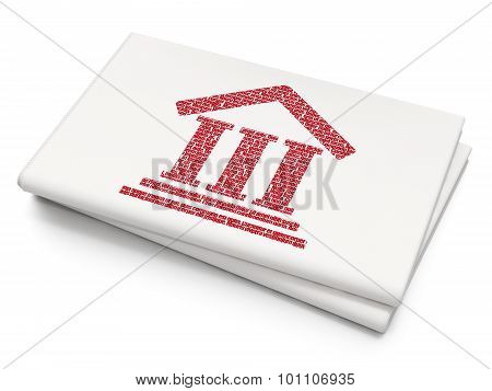 Law concept: Courthouse on Blank Newspaper background