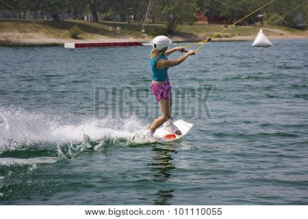 Young Girl Wakeboarder