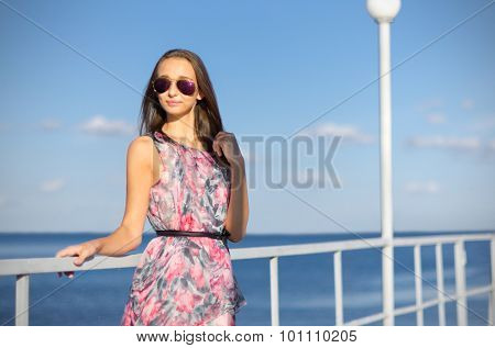 Young girl on the pier (normal version)